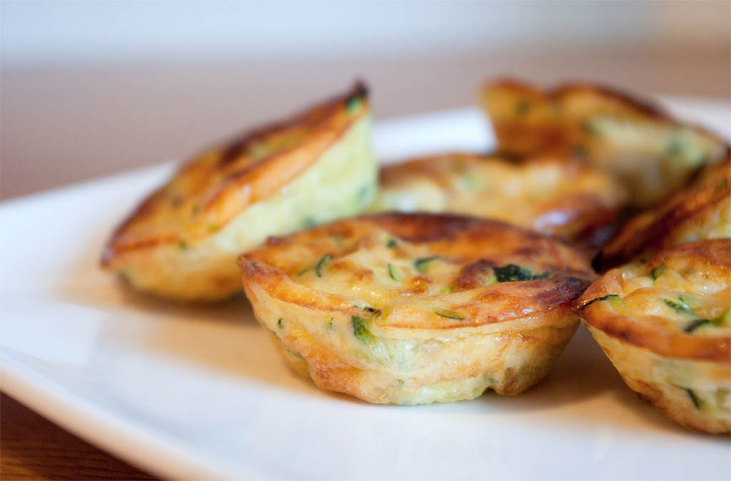 Mini clafoutis aux courgettes for Entree vite faite simple