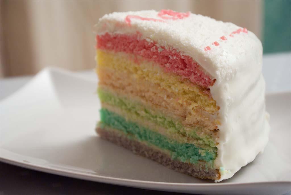 Rainbow Cake La Noix De Coco